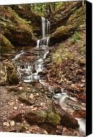Alger Falls Canvas Prints - Autumn Memories Canvas Print by James Marvin Phelps