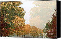 Foilage Canvas Prints - Autumn Mist Canvas Print by Gwyn Newcombe
