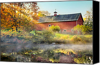 Country Scenes Photo Canvas Prints - Autumn Morn Canvas Print by Bill  Wakeley
