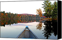 Jim Cumming Canvas Prints - Autumn Morning 7am Canvas Print by Jim Cumming