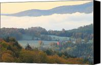 Vermont Autumn Foliage Canvas Prints - Autumn Morning in Peacham Vermont Canvas Print by John Burk