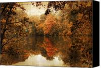 Ladnscape Canvas Prints - Autumn Reflected Canvas Print by Jessica Jenney