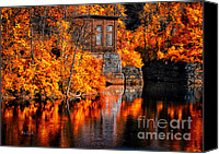 Androscoggin River Canvas Prints - Autumn Reflections  Canvas Print by Bob Orsillo