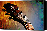 Guitar Headstock Canvas Prints - Autumn Rhapsody Canvas Print by Christopher Gaston