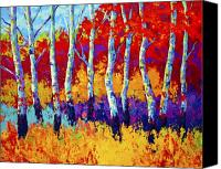 Leaves Painting Canvas Prints - Autumn Riches Canvas Print by Marion Rose