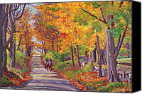 Viewed Canvas Prints - Autumn Ride Canvas Print by David Lloyd Glover