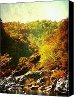 Rock Formation Canvas Prints - Autumn Ridge Canvas Print by Leah Moore