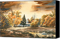 Scene Mixed Media Canvas Prints - Autumn Sky No W103 Canvas Print by Kip DeVore
