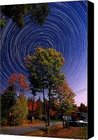 Startrail Canvas Prints - Autumn Star Trails in New Hampshire Canvas Print by Larry Landolfi