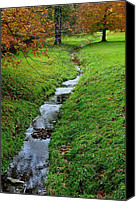 Family Love Canvas Prints - Autumn Stream Canvas Print by Robert Harmon
