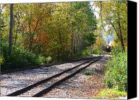 Hovind Canvas Prints - Autumn Train Canvas Print by Scott Hovind