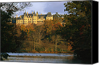 Twilight Views Canvas Prints - Autumn View Of The Biltmore Canvas Print by Melissa Farlow