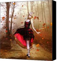 Goth Canvas Prints - Autumn Waltz Canvas Print by Karen Koski