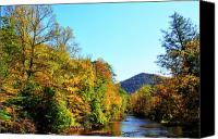 Rushing Mountain Stream Canvas Prints - Autumn Williams River Canvas Print by Thomas R Fletcher