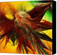 Fine Art Fractal Art Canvas Prints - Autumn Wings Canvas Print by Andee Photography