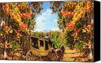 Four Season Landscapes Canvas Prints - Autumns Essence Canvas Print by Lourry Legarde