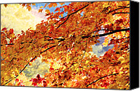 Gatlinburg Canvas Prints - Autumns Gold Great Smoky Mountains Canvas Print by Rich Franco