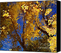 Bathrooms Canvas Prints - Autumns Reflections Canvas Print by Steven Milner