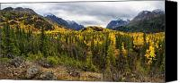 Snow Capped Canvas Prints - Autumns Vista Canvas Print by Ed Boudreau