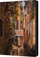 Gondola Canvas Prints - autunno a Venezia Canvas Print by Guido Borelli