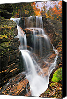 Fall Scenes Canvas Prints - Avalanche Falls - Franconia Notch Canvas Print by Thomas Schoeller