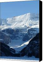 Volumes Of Snow Canvas Prints - Avalanche Ledge Canvas Print by Greg Hammond