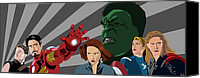 Avengers Canvas Prints - Avengers Assemble Canvas Print by Lisa Leeman