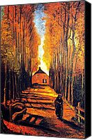 Landscape Canvas Prints - Avenue at poplars Canvas Print by Vincent Van Gogh