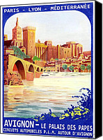 Tourism Mixed Media Canvas Prints - Avignon Deco Canvas Print by Lyle Brown