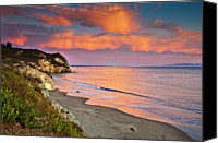 Cloud Canvas Prints - Avila Beach At Sunset Canvas Print by Mimi Ditchie Photography
