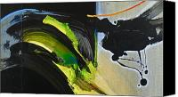 Drips Mixed Media Canvas Prints - Avocado Swell Canvas Print by Cliff Spohn