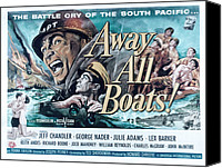 Fid Canvas Prints - Away All Boats, Jeff Chandler, George Canvas Print by Everett