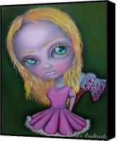 Horror Canvas Prints - Ax Girl Canvas Print by  Abril Andrade Griffith