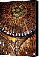 Byzantine Canvas Prints - Aya Sofya Canvas Print by John Rizzuto