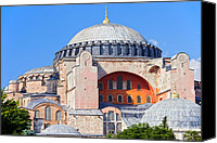 Sofia Canvas Prints - Ayasofya Byzantine Landmark Canvas Print by Artur Bogacki