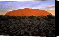Solitude Canvas Prints - Ayers Rock Australia Canvas Print by Bill Bachmann - Printscapes