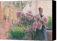 Carl Larsson Canvas Prints - Azalea Canvas Print by Carl Larsson