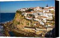 Village Canvas Prints - Azenhas do Mar Canvas Print by Carlos Caetano