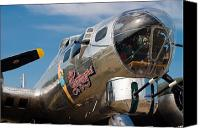 Warbird Photo Canvas Prints - B-17 Flying Fortress Canvas Print by Adam Romanowicz