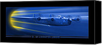 Mike Canvas Prints - B-24 Liberator Legend Canvas Print by Mike McGlothlen