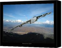 Photo Digital Art Canvas Prints - B-52 Buff Canvas Print by Larry McManus