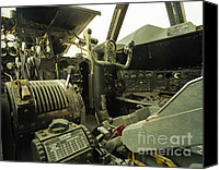 Regeneration Photo Canvas Prints - B-52 Cockpit Canvas Print by Jan Faul