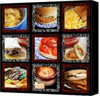 Eggs Digital Art Canvas Prints - B L D Dining 1 Tic Tac Toe Canvas Print by Andee Photography