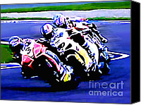 Motogp Canvas Prints - B10 Canvas Print by Tom Griffithe