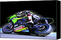 Motogp Canvas Prints - B11 Canvas Print by Tom Griffithe