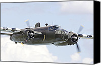 Usaf Canvas Prints - B25 - Portrait Canvas Print by Pat Speirs