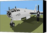Little Canvas Prints - B29 Superfortress Canvas Print by Michael Tompsett