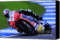 Motogp Canvas Prints - B3 Canvas Print by Tom Griffithe