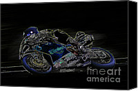 Motogp Canvas Prints - B9 Canvas Print by Tom Griffithe