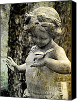 Still Life Sculpture Photo Canvas Prints - Babe in the Woods Canvas Print by Colleen Kammerer